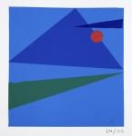 Montparnasse, d'après Klee, en bleu, vert et rouge 2006 N_uméro 3 17x17cm 12x12cm ©galerieberthetaittouares.jpg